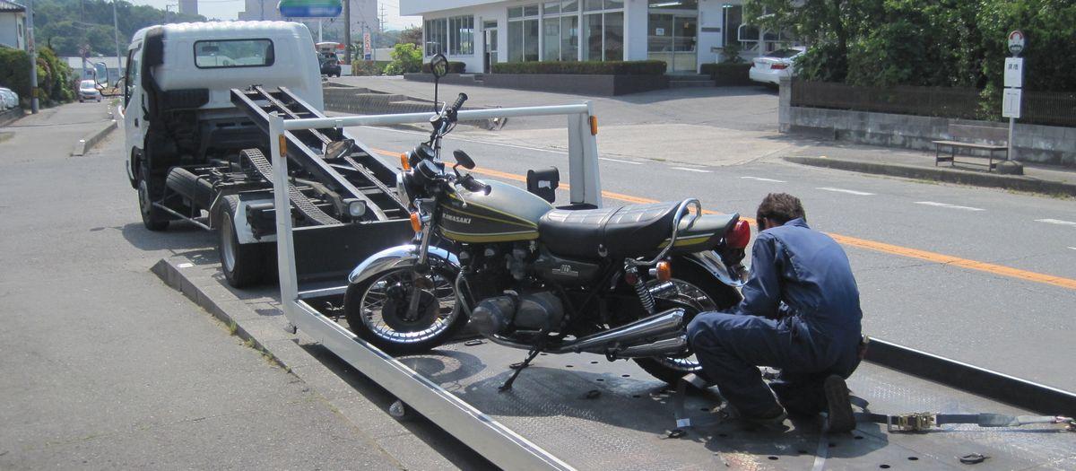 希少なオートバイも安心搬送
